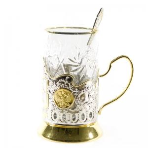 Набор Чайный с позолотой МВД