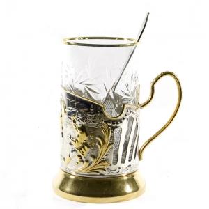 Набор Чайный с позолотой Русские пляски