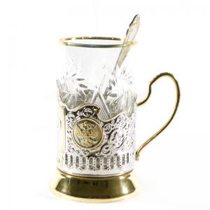 Набор Чайный с позолотой РЖД